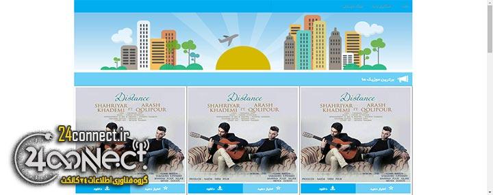 طراحی و کد نویسی وب سایت دانلود موزیک
